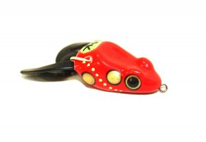 Frog Soft Body Fishing Lure Flashy spinner tail Weedless action 6cm 7g Red