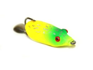 Lure Master Soft Body weedless frog fishing lure 5cm 5g Fluro
