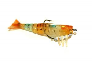 LIVE SHRIMP by StarFish 85mm 8g Blue Weighted bottom jigging fishing lure swimbait style tail action